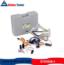2000KGS 12V Electric Car Jack and Wrench Kit, Portable Electric Car Jack