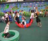Outdoor playground rubber mat playground flooring