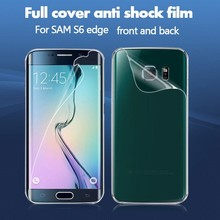 2015 new product HD clear full cover screen protector for Samsung galaxy S6 edge clear screen cover/guard/film/foils,front &back