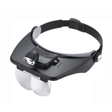 High quality factory direct sale Helmet Magnifier LED loupe repair magnifying glasses
