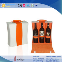 3 Bottle Wine Gift Packaging Carrier With Portable