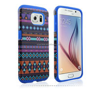 Custom Design cheap Cover PC SILICONE 2 in 1 Combo hybird design Case for Samsung galaxy s6