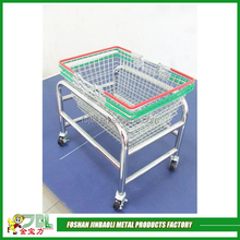 shop fittings powder coated stainless steel wire basket