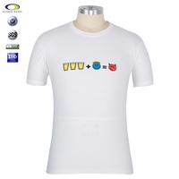 White o neck cotton polyester tc promotional tshirts