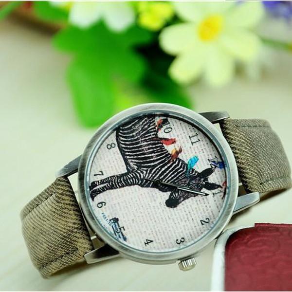 สะดวกสบายหนังpuนาฬิกาควอทซ์สายนาฬิกาข้อมือผู้ชายสไตล์คาวบอยผู้หญิงนาฬิกาชุดลำลอง