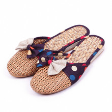 2015 Top quality excellent feet-friendly bedding TPR sole flax Linen slippers