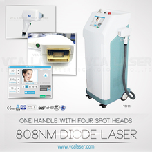 VCA hottest sale diode laser hair removal/808nm diode laser working 24 hours withour stop beauty machine/permanent result