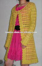 Chaqueta de punto de algodón, chaqueta de manga larga, chaqueta de las mujeres
