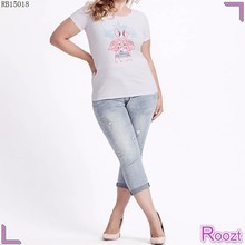 New Trendy White Short Sleeve Round Neckline High Quality cute graphic tees for women