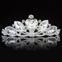 2015 Latest For Girl Wedding Jewelry European And American CZ Diamond Hot Sale Tiara WLHG-1205