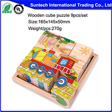 Child toy,2015new style wooden puzzle,wholesale kids popular wooden cube puzzle
