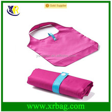 Custom recycle roll foldable 190T polyester shopping bag
