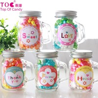 Wholesale hot selling mini glass jar confectionery