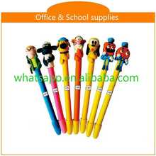 High quality cartoon polymer clay ball pens crystal ball pen for gift