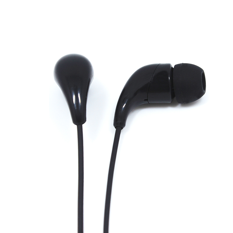 China online auction printed cable plastic earphone manufacturer