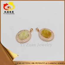 Fascinating stainless prong setting 925 silver amber necklace jewerly