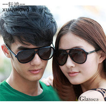 85 ewhxyj A large number of sales oversized male and female models 1801 classic double beam black sunglasses yurt glasses