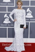 Carrie Underwood Long Sleeve Evening Prom Dress Grammy Awards 2012