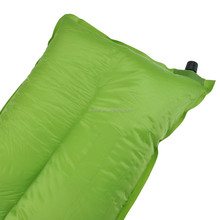 Customize Logo Outdoor Camping Polyester Fabric Self inflatable Portable Foldable Pillow