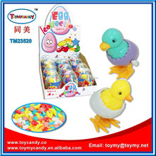 TOP sales easter egg inside animal can be open bounce cheaper easter egg toy candy plastic easter egg box container with candy