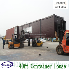luxury cheap and quick assembled 40ft container house green house with SGS testing