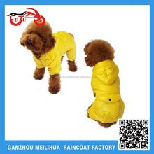 Factory OEM Nylon Waterproof Fleece Hooded Yellow Warm Winter Pet Dog Cat Cloth/Dog Raincoat