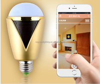 Bluetooth Smart LED Bulbs, Energy Efficient Bluetooth Remote Control Multiple Colors Light with Music Sync