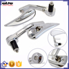 BJ-RM400-03 Chrome Billet Aluminum Bar End Motorcycle Rearview Mirror For Yamaha YZF R3 R25