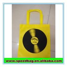 Yellow non-woven bag 80G non woven tote bag customer design gift bag