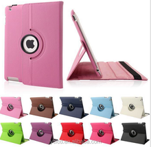 360 degree Rotating PU Leather Case For ipad air 2 with stand