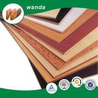 laminated MDF panel wood veneer / melamined coated MDF / plain MDF board for furniture