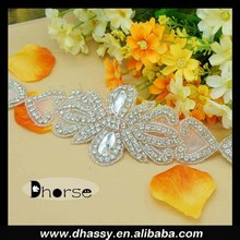 New Beautiful Crystal Rhinestone Applique Trimming For Headpiece DH-1911