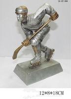 china manufacturer new product resin ice hockey award resin hockey trophy