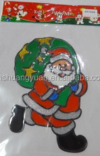 Hot selling popular Christmas sticker/Christmas decorations