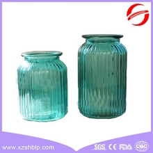 2015 new products high quality lead free cylindrical pyrex long stem martini glass vase