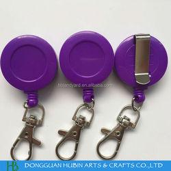 Custom color printed retractable badge holder pull reel