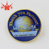 cheap price round metal security badges/metal pin badge with your own design