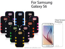 Hot Selling Wholesale China Six Dot Back Robot Hybrid PC Silicone Combo Case for Samsung Galaxy S6 Slim Armor Case