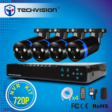 New arrival 720P/960P IP camera system 4ch POE NVR kit P2P ONVIF2.2 compatible