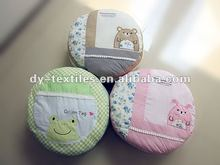 100% cotton printed animal patchwork round cushion