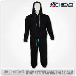 oem cheap wholesale latest design tracksuit,mens fleece hooded tracksuit