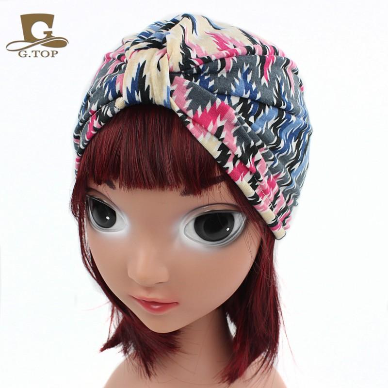 New vintage blumendruck kinder turban mädchen baumwolle hut baby ...