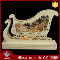 Beautiful Christmas carriage wholesale wood craft supplies