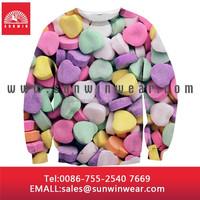 Custom design sublimation Long sleeve hoody sports suit
