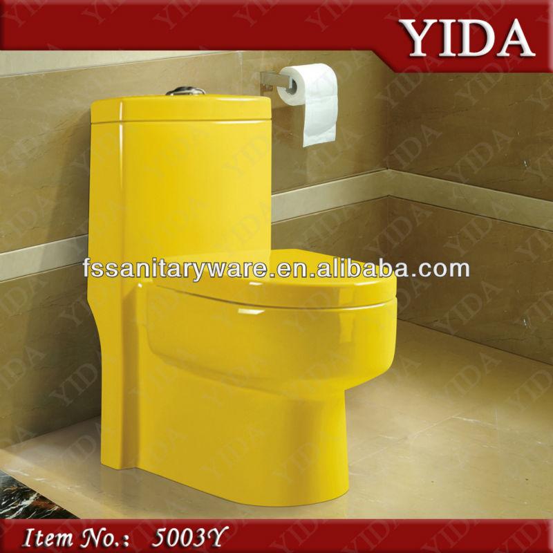 Entwässerung Von Waschbecken Und Wc: Gelb Toilette _color Toilettenschüssel Für Bad Sanitär