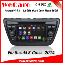 "Wecaro WC-SU7058 7"" Android 4.4.4 WIFI 3G touch screen car dvd player for suzuki s- cross car radio gps 2014"
