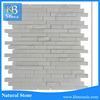 New polished mixed strip pure white marble