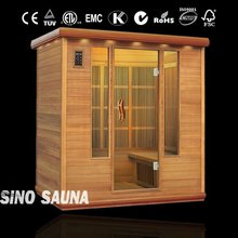 4 Person Russian Sauna Room, Infrared sauna Cabin, Hot House (CE/TUV/RoHS)