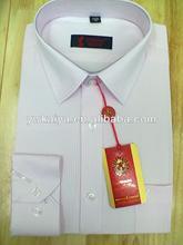 Homens de manga longa da camisa do desgaste modelos uniformes para escritório