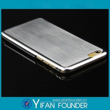 Silver metal mobile phone cover case/for iPhone 6 cover case metal brushed
